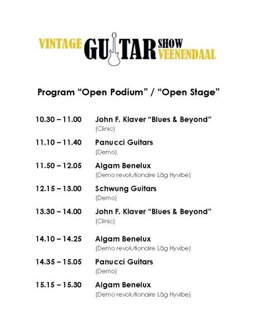 Open Stage Program SEP 2019 White